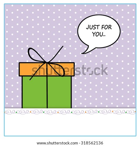 Gift - Just For You.. - stock photo