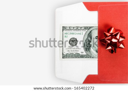 gift money - stock photo