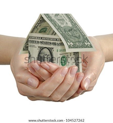 Gift of house - stock photo