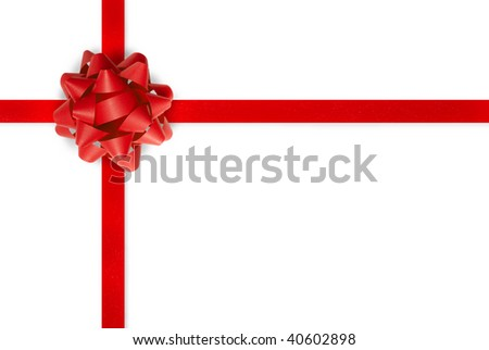 Gift ribbon - stock photo