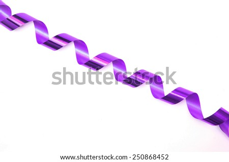 gift ribbon isolated on white - stock photo