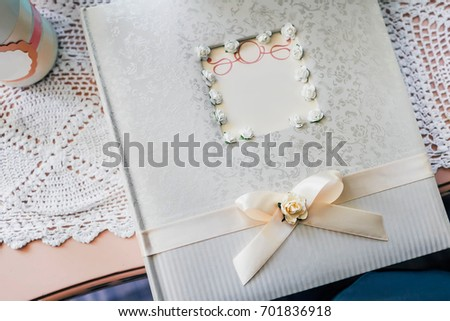 Gift Table Guest Book During Wedding Stock Photo Royalty Free