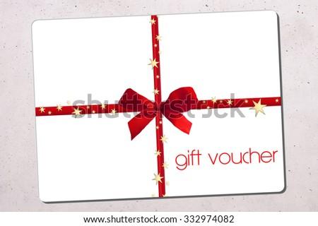 gift voucher - stock photo