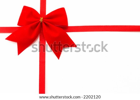 Gift wrap on a white background, top view, horizontal orientation