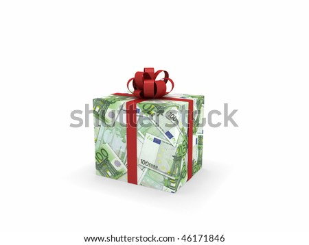 Gift wrapped in euro