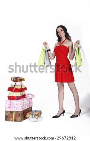 gifts and shopping - stock photo