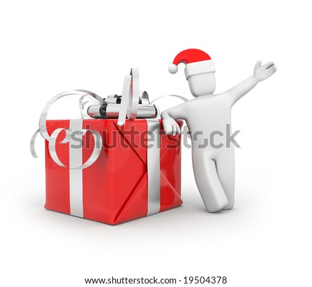 Gifts by New Year and Christmas - stock photo