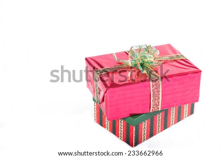 gifts isolated - stock photo