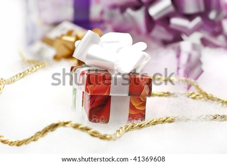 gifts on a white background