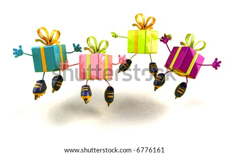 Gifts rollerblading - stock photo