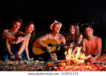 Gig on the beach. - stock photo