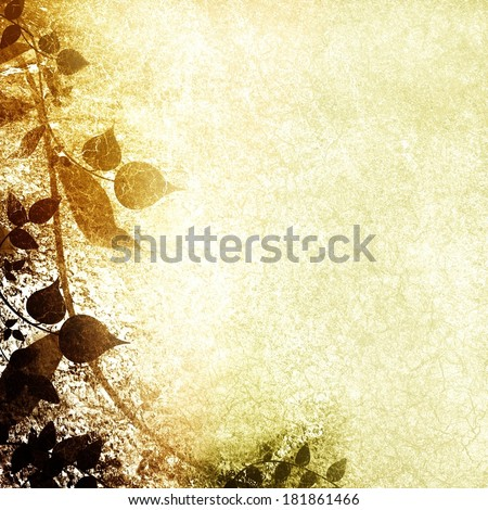 Gilded brown card nature background