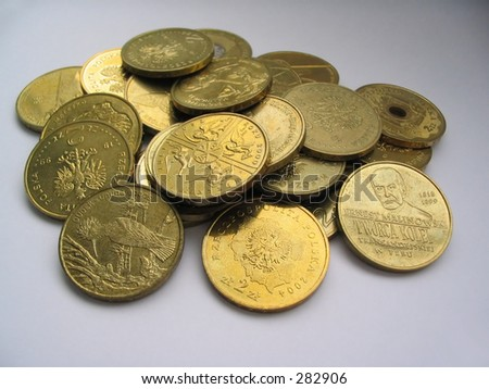 gilded coins collection #2 - stock photo