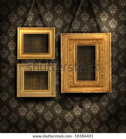 Gilded Frames - stock photo