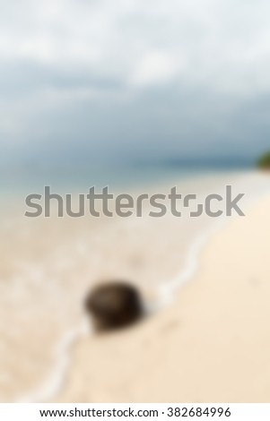 Gili Trawangan Bali Indonesia Travel theme blur background