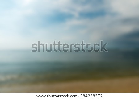 Gili Trawangan Bali Indonesia Travel theme blur background - stock photo