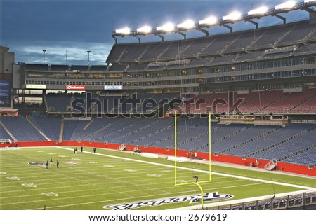 Gillette Stadium at Night - stock photo
