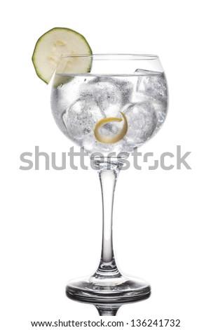 Gin tonic glass - stock photo