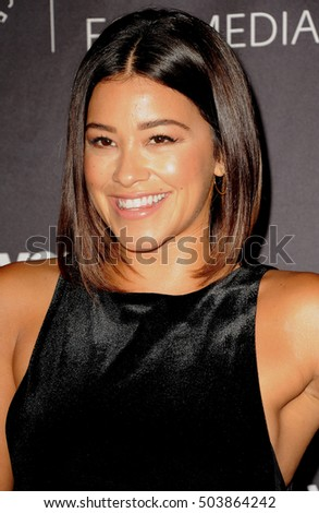 Gina Rodriguez at the Paley Center for Media's Hollywood Tribute to Hispanic Achievements in Television held at the Four Seasons Hotel in Beverly Hill, USA on October 24, 2016.