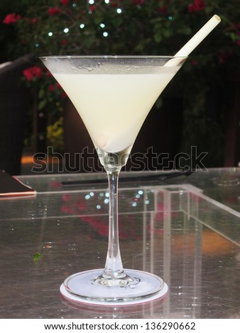 Ginger and lemongrass martini cocktail - stock photo