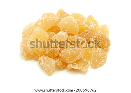 Ginger candy on a white background - stock photo