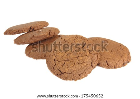 ginger cookies on a white background