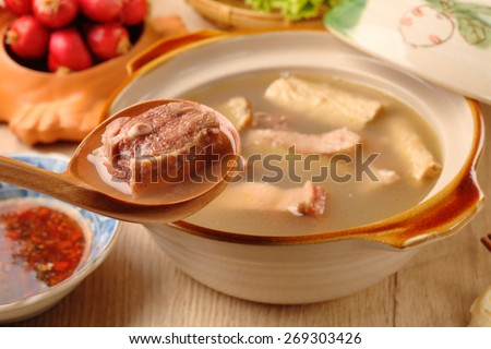 Ginger duck with rice wine - A Popular Taiwan food  - stock photo