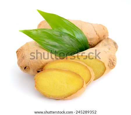 Ginger Isolated. - stock photo