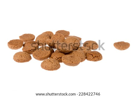 Ginger nuts, Dutch sweets at 5 december Sinterklaas party - stock photo