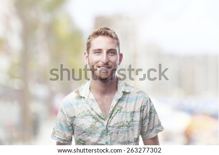 ginger young man on promenade