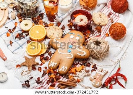 gingerbread and species  - stock photo