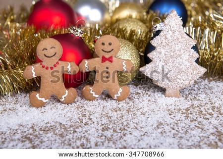 gingerbread christmas cookies - stock photo