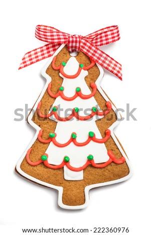Gingerbread christmas tree - stock photo