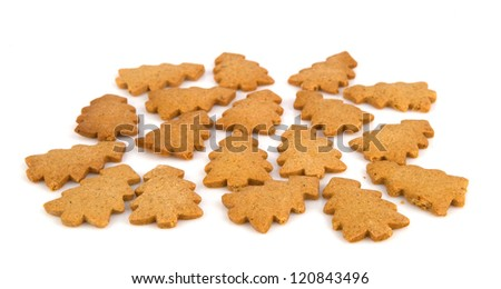 Gingerbread cookies shaped as Christmas tree