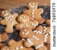 Gingerbread man cookies - stock photo