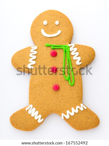 Gingerbread on white