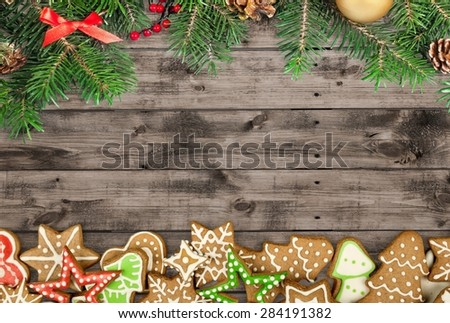 Gingerbread, white, paper. - stock photo