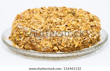 gingerbread with carrot, raisin and walnuts - stock photo