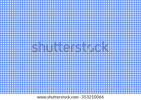 Gingham check blue - stock photo