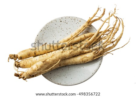 Ginseng dishes prepared with medicinal herbs dish