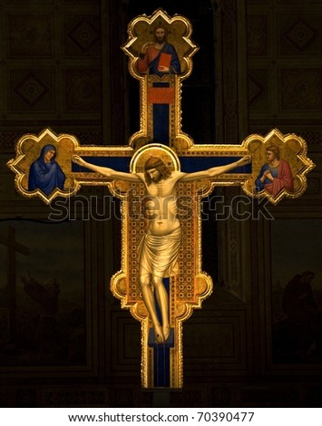 giotto cross.florence,italy - stock photo
