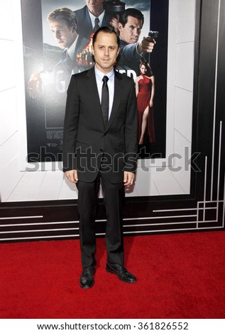 "Giovanni Ribisi at the Los Angeles premiere of ""Gangster Squad"" held at the Grauman's Chinese Theatre in Los Angeles, USA on January 7, 2013. - stock photo"