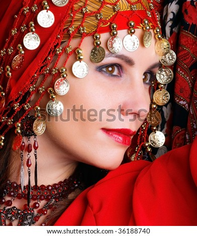 gipsy dancer - stock photo