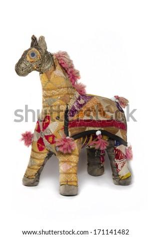 Giraffe Indian toy - stock photo
