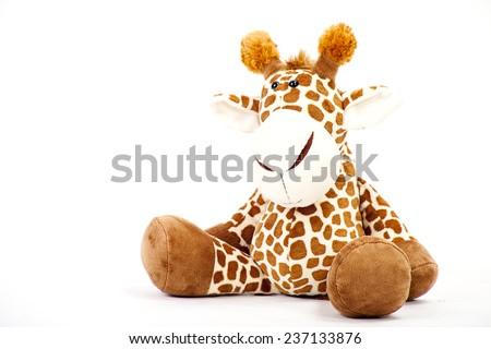 Giraffe soft toy - stock photo
