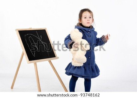 girl and board - stock photo