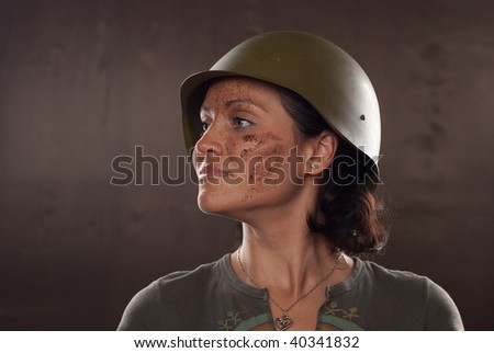 girl and military motive