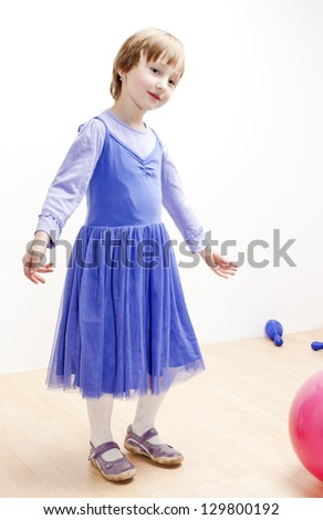 girl as a dancer - stock photo