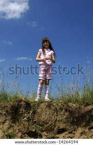 Girl ashore - stock photo
