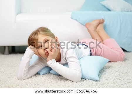 Girl at home - stock photo